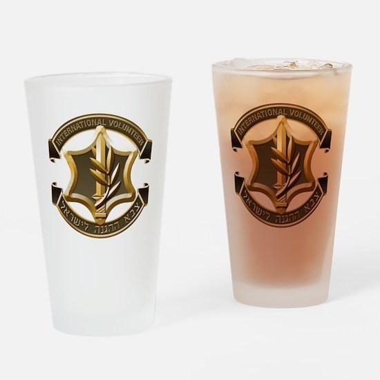 IDF International Volunteer Emblem Drinking Glass