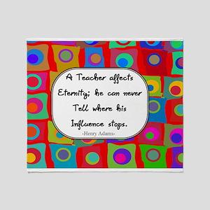 A teacher affects eternity RED Throw Blanket