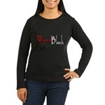 CynicalBlack Logo Women's Long Sleeve Dark T-Shirt