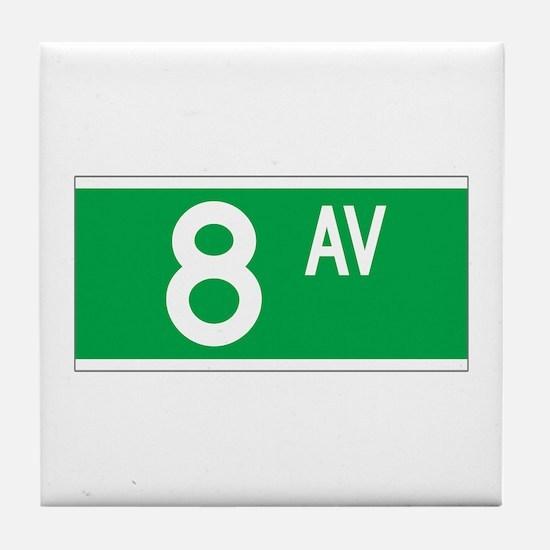 8th Ave., New York - USA Tile Coaster