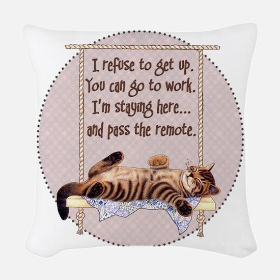 My Cat - 2 Woven Throw Pillow