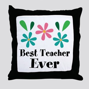 Best Teacher Ever Personalized Gift Throw Pillow