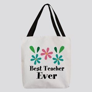 Best Teacher Ever Personalized Gift Polyester Tote