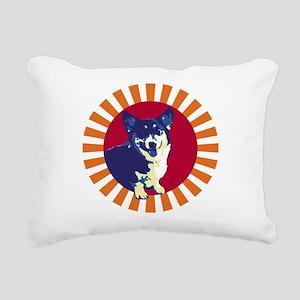Mr. Corgi Rectangular Canvas Pillow