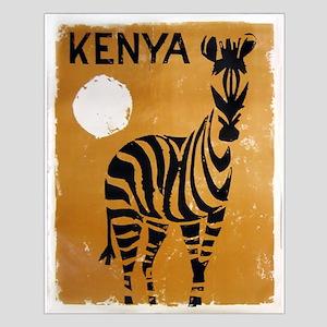 Kenya, Zebra, Vintage Poster Posters