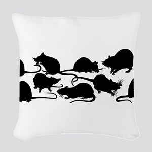 Lots Of Rats Woven Throw Pillow