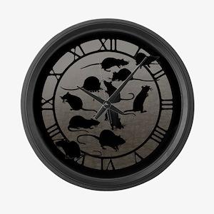 Lots Of Rats Large Wall Clock