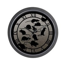 Lots Of Rats Wall Clock