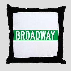 Broadway, New York - USA Throw Pillow