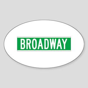 Broadway, New York - USA Oval Sticker