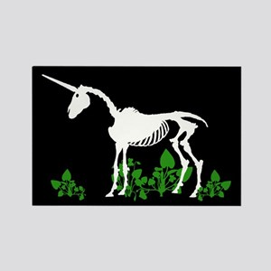 Unicorn Skeleton Rectangle Magnet