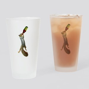 Squirrel Drinking Beer Drinking Glass