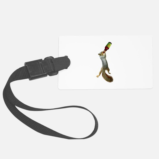 Squirrel Drinking Beer Luggage Tag