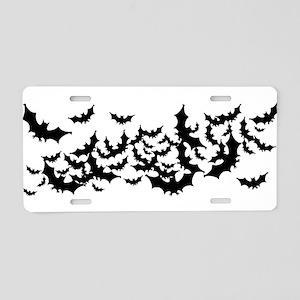 Lots Of Bats Aluminum License Plate