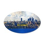 Istanbul 20x12 Oval Wall Decal