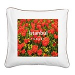 Istanbul Square Canvas Pillow