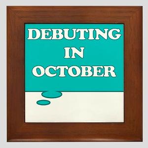 DEBUTING IN OCTOBER MATERNITY TALK BUBBLE Framed T