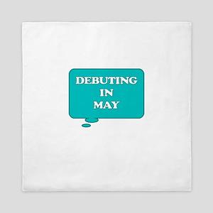 DEBUTING IN MAY MATERNITY TALK BUBBLE Queen Duvet