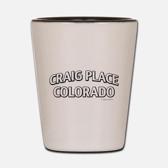 Craig Place Colorado Shot Glass