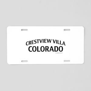 Crestview Villa Colorado Aluminum License Plate