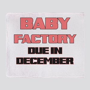 BABY FACTORY DUE IN DECEMBER PINK FUNNY MATERNITY