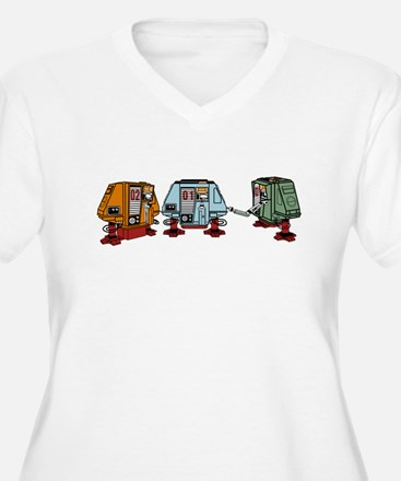 Silent Huey, Dewey and Louie Plus Size T-Shirt