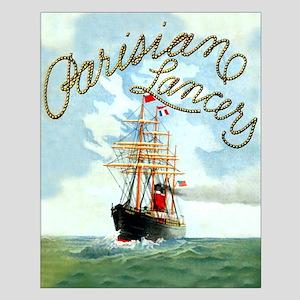 Parisian Tall Ship Small Poster
