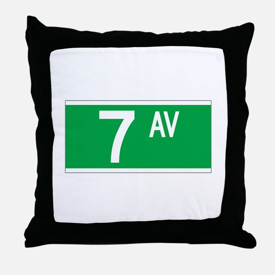 7th Ave., New York - USA Throw Pillow