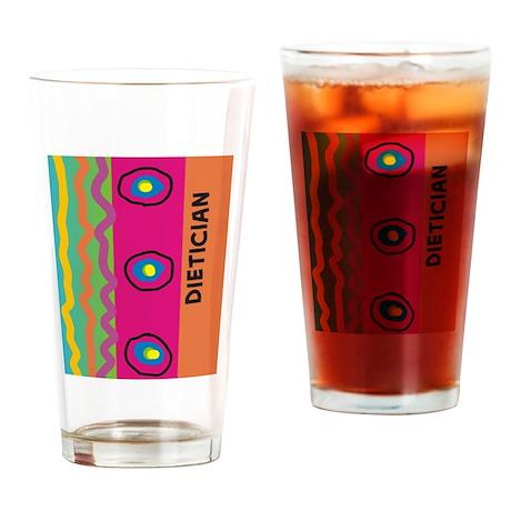 dietician FF 10 artsy Drinking Glass