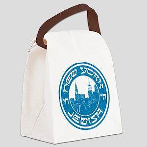 New York Jewish American Canvas Lunch Bag