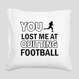Vector Football designs Square Canvas Pillow