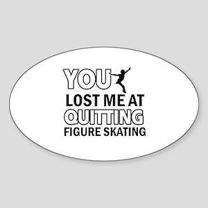 Vector Figure Skating designs Sticker (Oval)