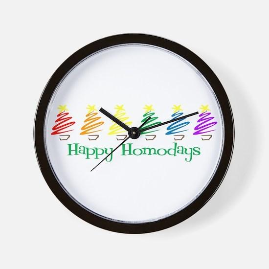 Happy Homodays Wall Clock