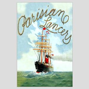 Parisian Tall Ship Large Poster