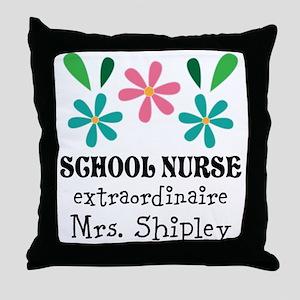 School Nurse Personalized Gift Throw Pillow