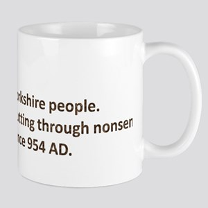 Cutting through nonsense Mug