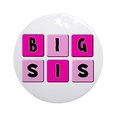 Big Sis Ornament (Round)