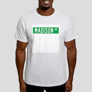 Madison Ave., New York - USA Ash Grey T-Shirt