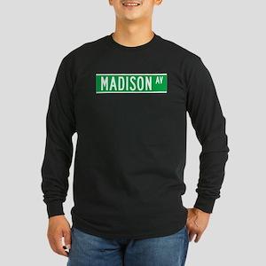 Madison Ave., New York - USA Long Sleeve Dark T-S