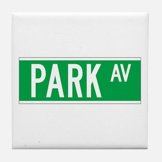 Park Ave., New York - USA Tile Coaster