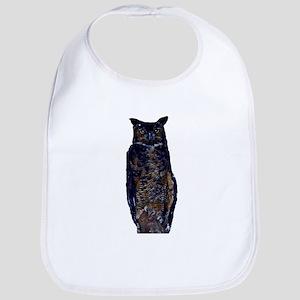 great horned owl Bib