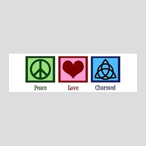 Peace Love Charmed 20x6 Wall Decal