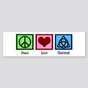 Peace Love Charmed Sticker (Bumper)