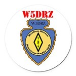 Custom Callsign Logo Round Car Magnet