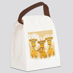 Giraffes Canvas Lunch Bag