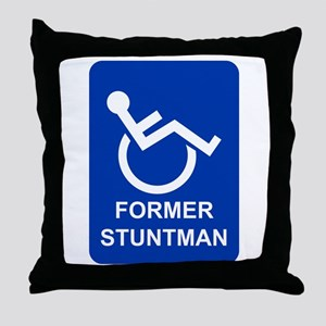 Former Stuntman Throw Pillow