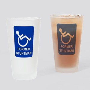 Former Stuntman Drinking Glass