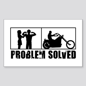 Problem Solved Sticker (Rectangle)