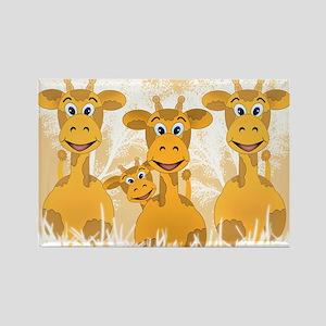 Giraffes Rectangle Magnet