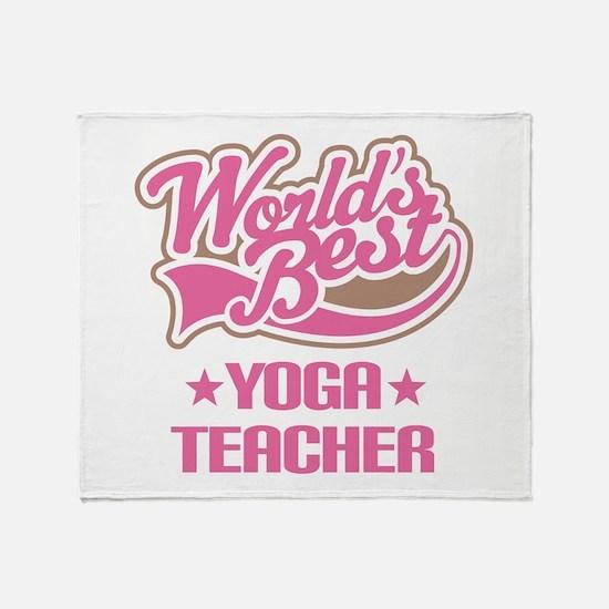 Yoga Teacher Throw Blanket